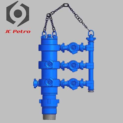 Integral-cement-head-high-pressure-double-plug-cementing-head